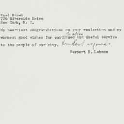 Telegram: 1957 November 7