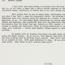 Memorandum: 1957 October 11