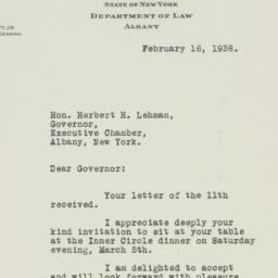 Letter: 1938 February 16