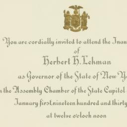 Invitation: 1935 January 1