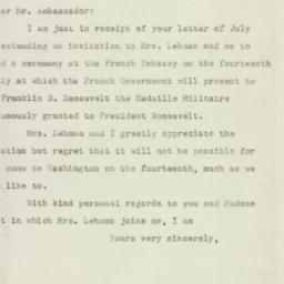 Letter: 1947 July 9