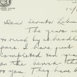 Letter: 1951 December 6