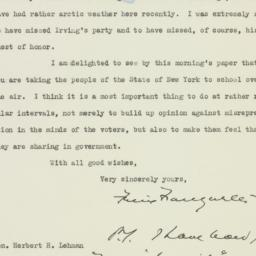 Letter: 1935 May 6