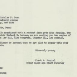 Letter: 1953 November 30