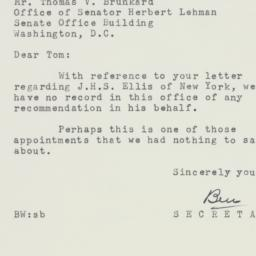Letter: 1954 January 20