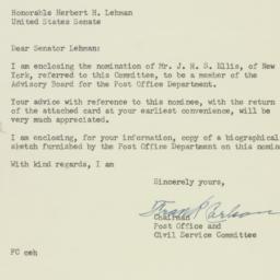Letter: 1954 January 15