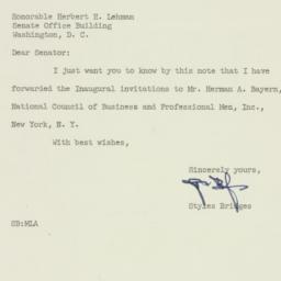 Letter: 1953 February 23
