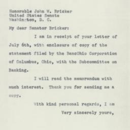 Letter: 1955 July 16