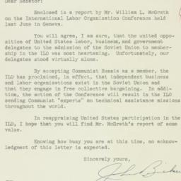 Letter: 1954 October 11