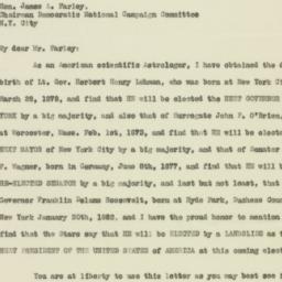 Letter: 1932 October 22