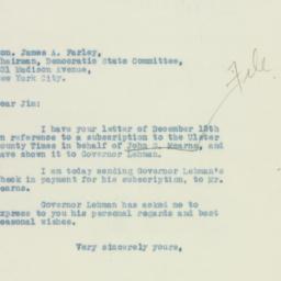 Letter: 1932 December 22