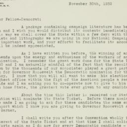 Letter: 1932 November 30