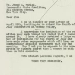 Letter: 1931 May 5