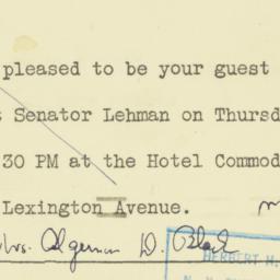 Invitation: 1950 September 26