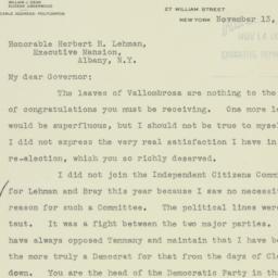 Letter: 1934 November 13