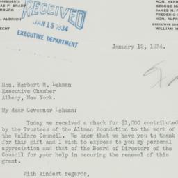 Letter: 1934 January 12