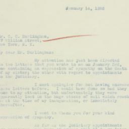 Letter: 1933 January 14