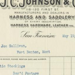 J. C. Johnson & Co.. Bill