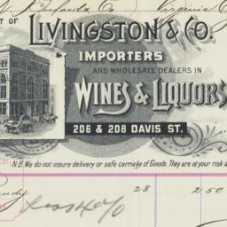 Livingston & Co.. Bill
