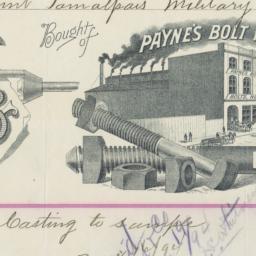Payne's Bolt Works. Bill