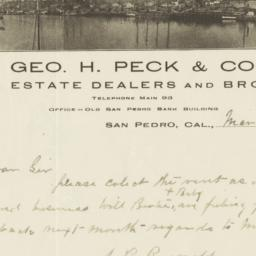 Geo. H. Peck & Co.. Letter