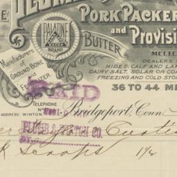 Plumb & Winton Co.. Bill