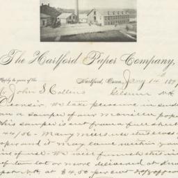 Hartford Paper Company. Bill