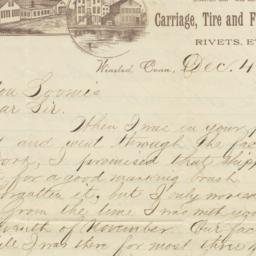 Franklin Moore Co.. Letter
