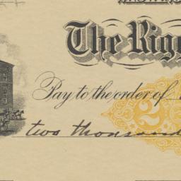 Riggs National Bank. Check