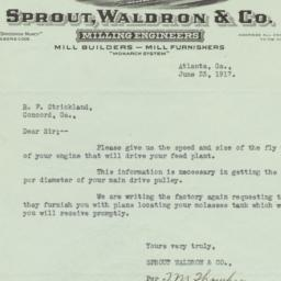 Sprout, Waldron & Co.. Letter