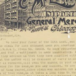 C. M. Linington. Letter