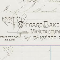 Chicago Bakery Company. Bill