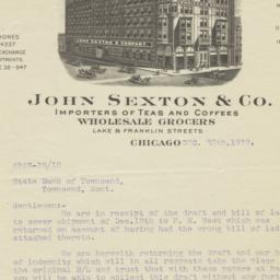 John Sexton & Co.. Letter