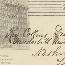 Marquette Hotel. Envelope