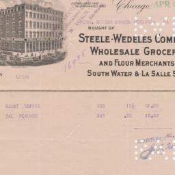 Steele-Wedeles Company. Bill