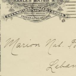 Charles Mayer & Co.. Envelope