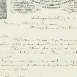 Charles Mayer & Co.. Letter