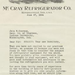 McCray Refrigerator Co.. Le...