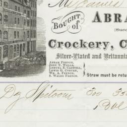 Abram French Company. Bill