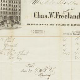 Chas. W. Freeland & Co.. Bill