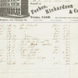 Forbes, Richardson & Co.. Bill