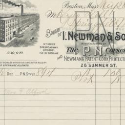 I. Newman & Sons. Bill