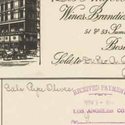 Los Angeles Company. Bill