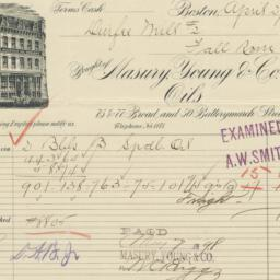 Masury, Young & Co.. Bill