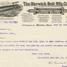 Norwich Belt Mfg. Co. Inc.....