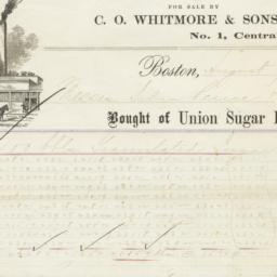 Union Sugar Refinery. Bill