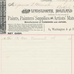 Wadsworth, Howland & Co.. Bill