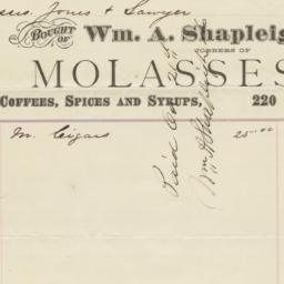 Wm. A. Shapleigh & Co.. Bill