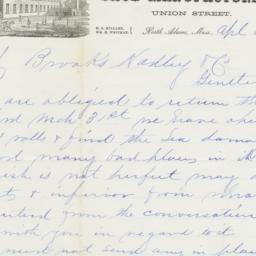 Millard & Whitman. Letter