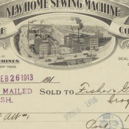 New Home Machine Co.. Bill